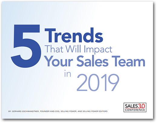 5 Trends That Will Impact Your Sales Team in 2019